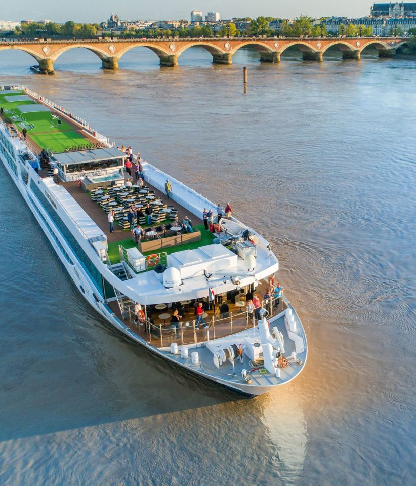 The Scenic Diamond ship in Bordeaux